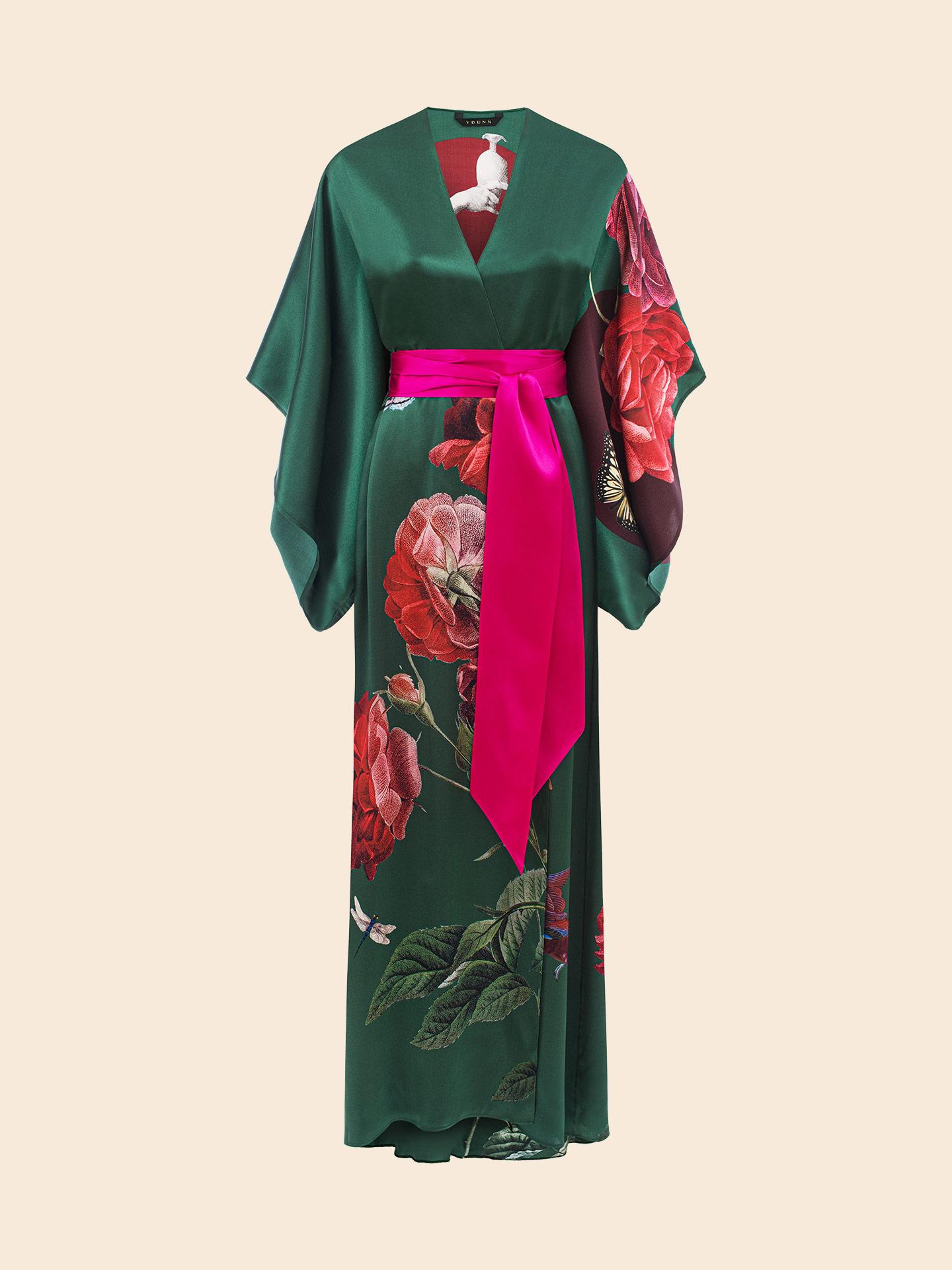 Maria Ivy Long Silk Kimono